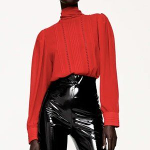 Zara Flowy Lace Detail Shirt